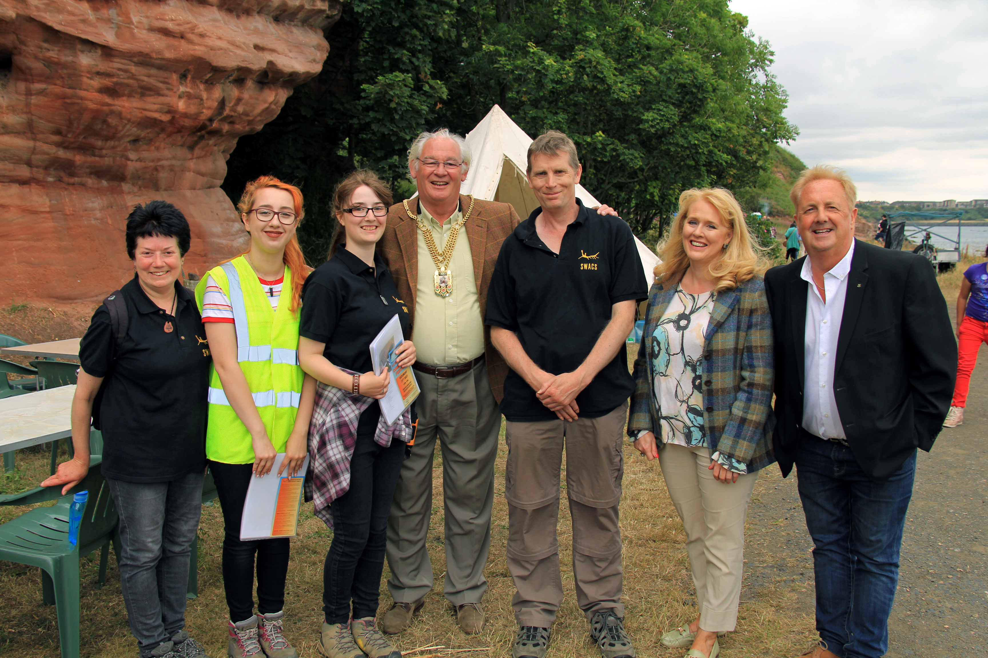 Members of SWACS with Jim Leishman, Provost of Fife