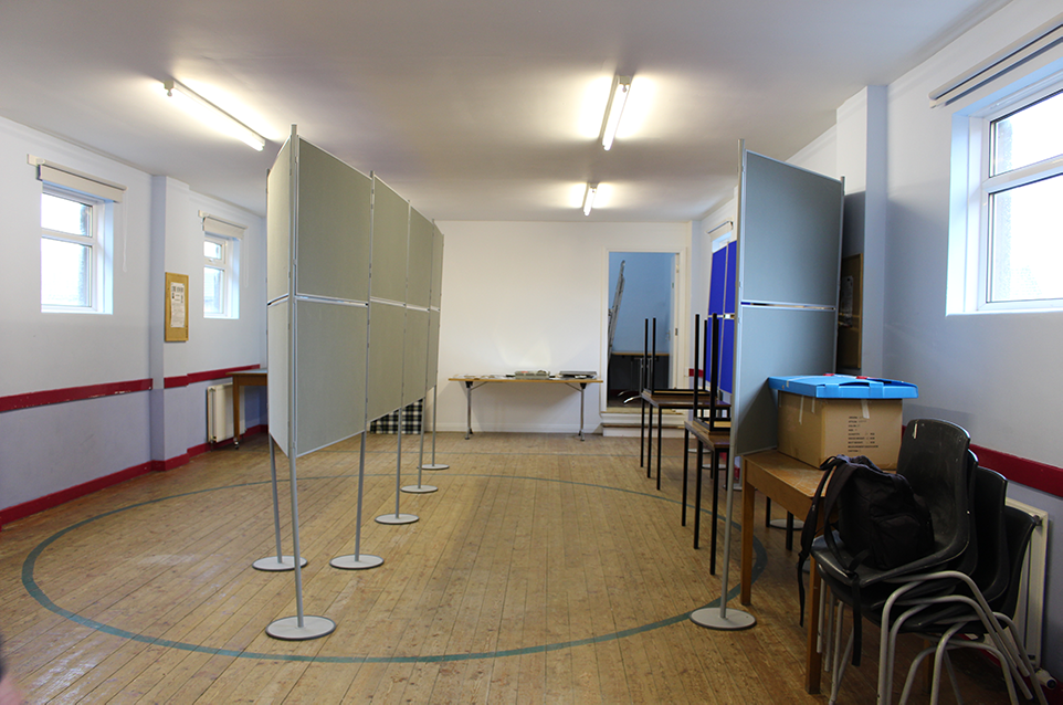 The new display space in the Terras Hall awaiting the collections.