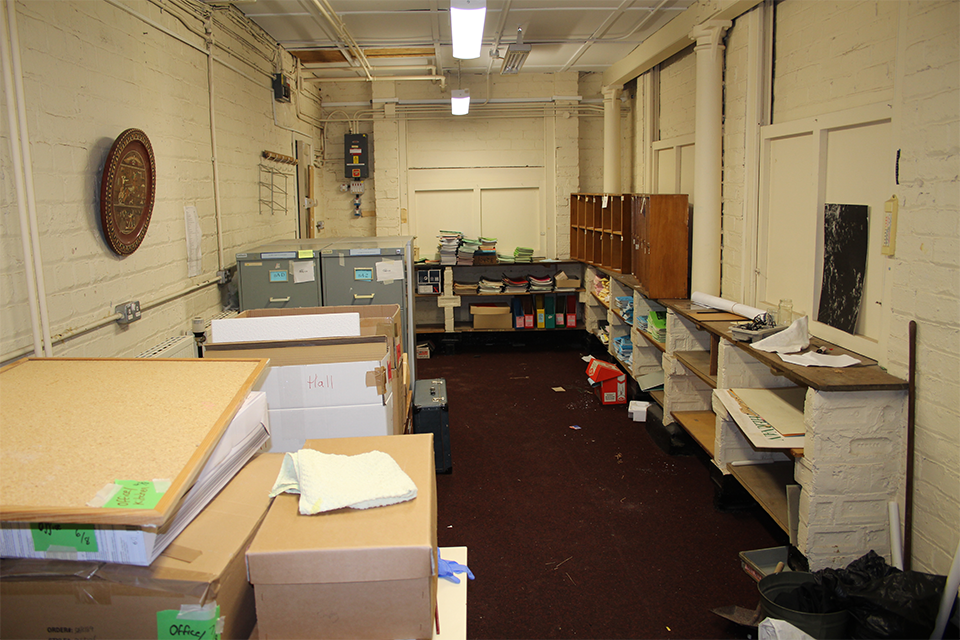 Our old office space and archives in the basement of East Wemyss Primary School.